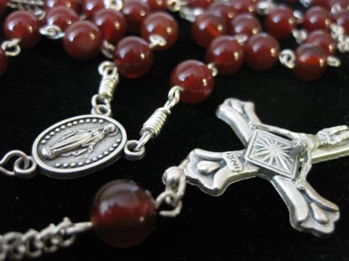 8mm Carnelian Rosary