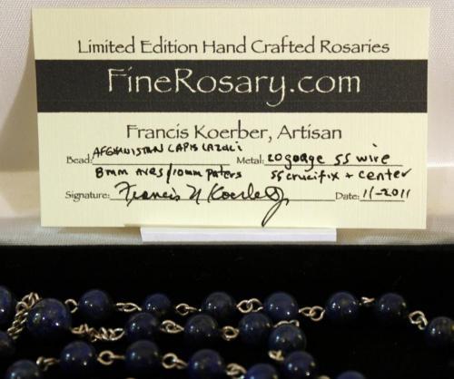 8mm Lapis Lazuli rosary