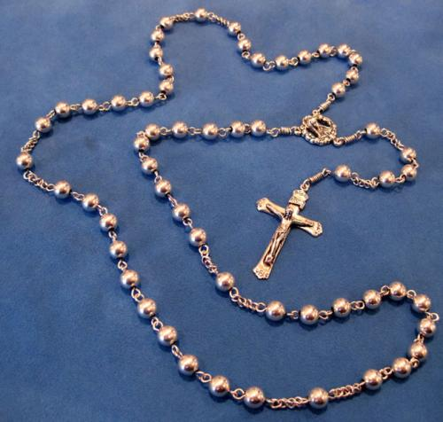 6mm sterling silver rosary