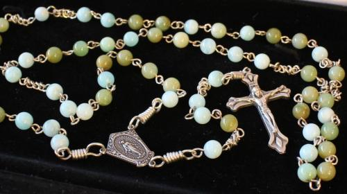 6mm Blue Opal Rosary