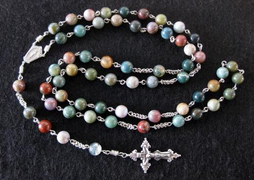 8mm Indian Agate Rosary